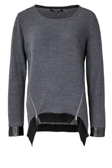 Top Zepposa Grey mit Zippern