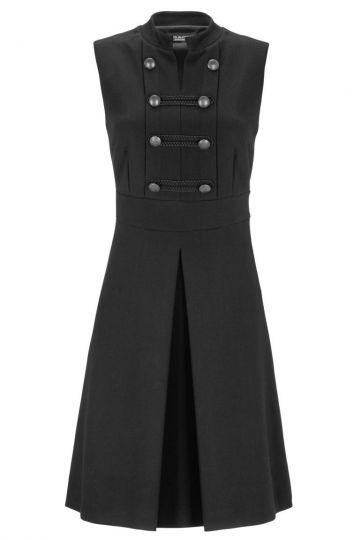 Schwarzes Trachtenkleid Deauwore mit Knöpfen | Ana Alcazar
