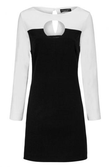 Schwarz&Weißes Kleid Drelowy mit Cut-Out | Ana Alcazar