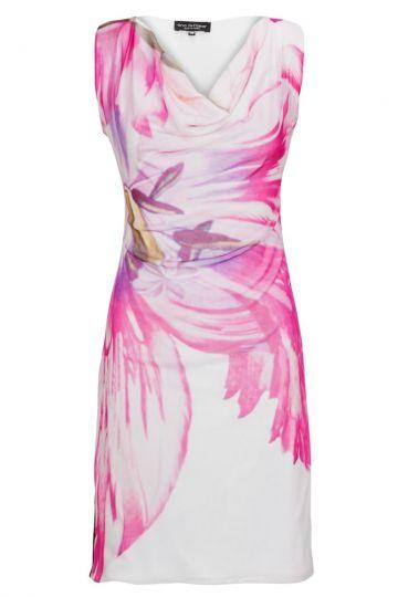 Somerkleid Beabellis mit Blumenprint in Weiß&Pink