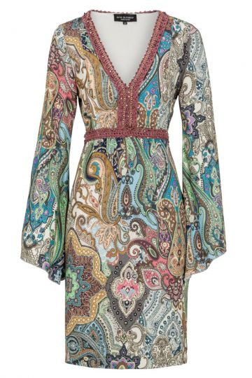 Tunikakleid Dendys mit Paisley Print | Ana Alcazar