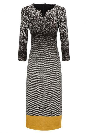 Mittellanges Kleid Deyas im Mustermix | Ana Alcazar