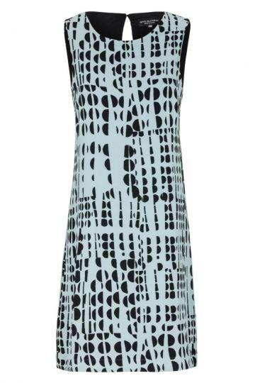 Hellblau Limitiertes Grafik-Kleid Glima