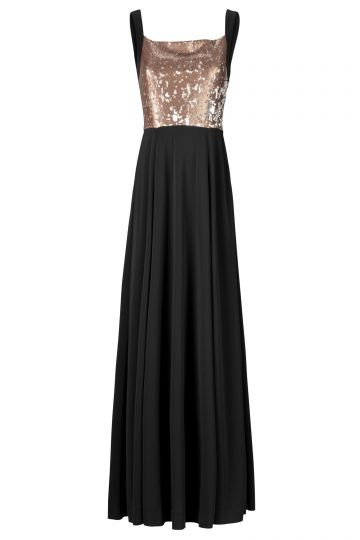 Black Label Abendkleid in Gold
