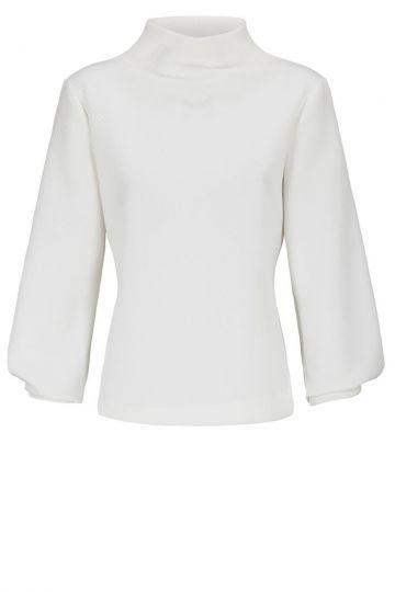 Stylishes Langarmtop Darlobe in Weiß | Ana Alcazar