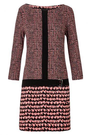 A-Linien Kleid Zagentia in Rosa und Schwarz