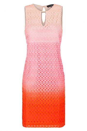 Rosa-Rotes A-Linien Kleid mit Schmuckteil | Ana Alcazar