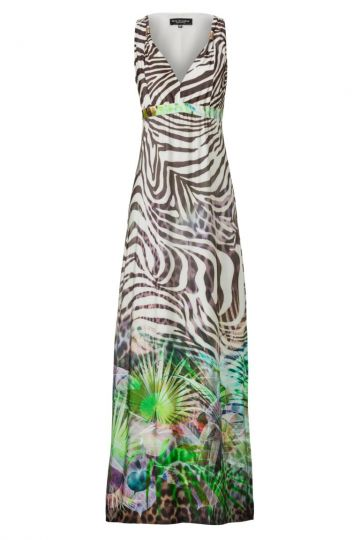 Langes Sommerkleid Aloveana mit Dschungelprint