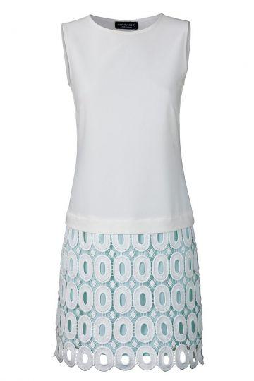 A-linien Kleid Veddy in Weiß und Hellblau