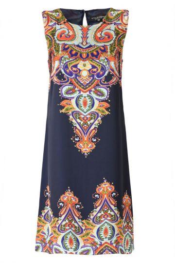 A-Linien Kleid Weilfora mit Paisley Print