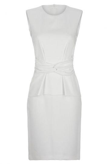 Elegantes weißes Volant Kleid Dinea | Ana Alcazar