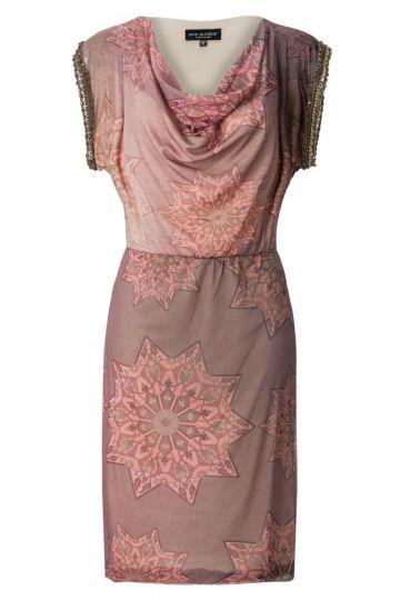 Wasserfall Kleid Astonea mit Ornament Print