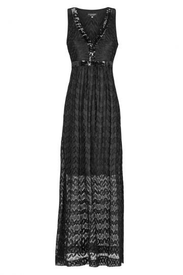 Strick Maxikleid Black Fancis Schwarz