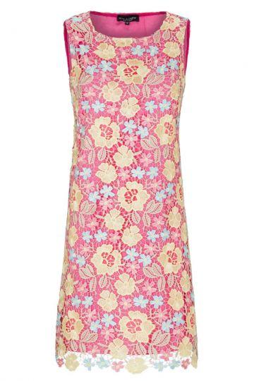 Rose-Yellow Pastell Lace Dress A-Shaped Giggy