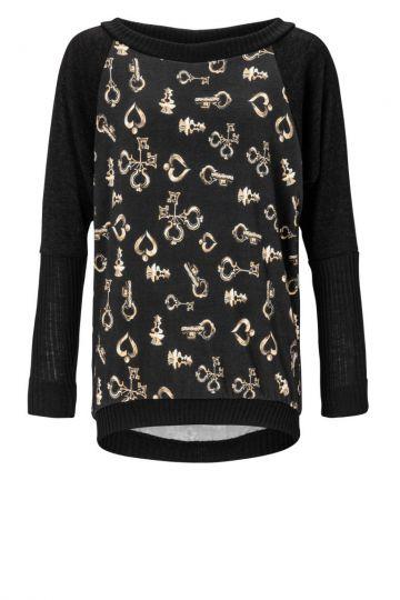 Pullover Zansea mit Schlüsselprint