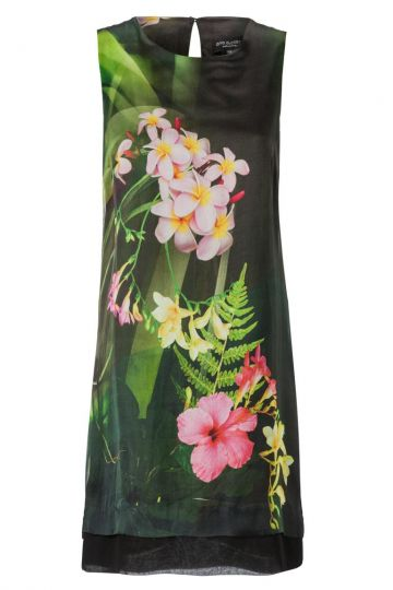 A-Linien Seidenkleid Anbelly mit Blumenprint