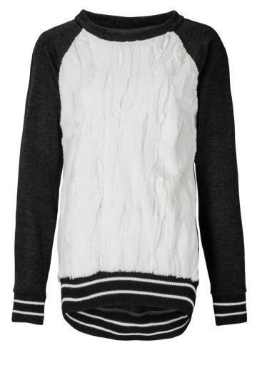 Pullover Zofinis in Schwarz und Weiss