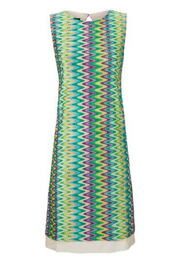 A-Linien Kleid Vegona Light im Zick-Zack Strick