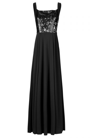 Black Label Abendkleid mit Schwarzen Pailletten