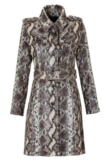 Trenchcoat Zeo Dark im Reptilprint