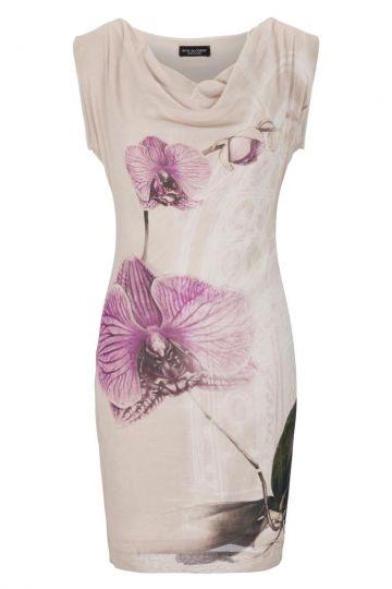Rosa Wasserfallkleid Gesine Orchideen-Print