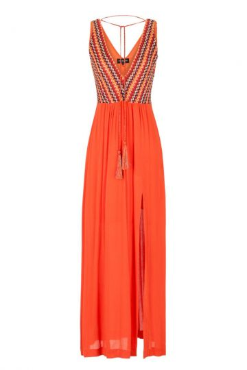 Oranges Maxikleid Geneava Stricktop