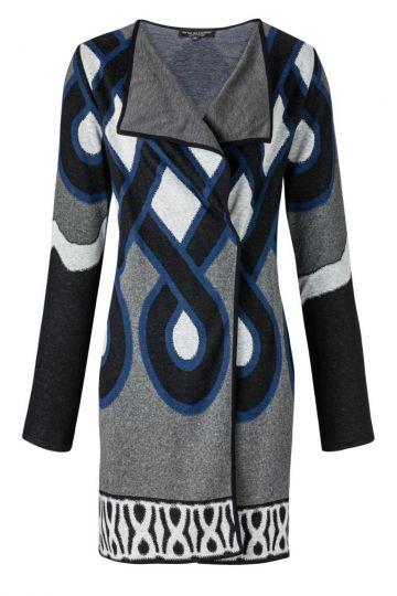 Cardigan Alonora mit Grafischem Muster