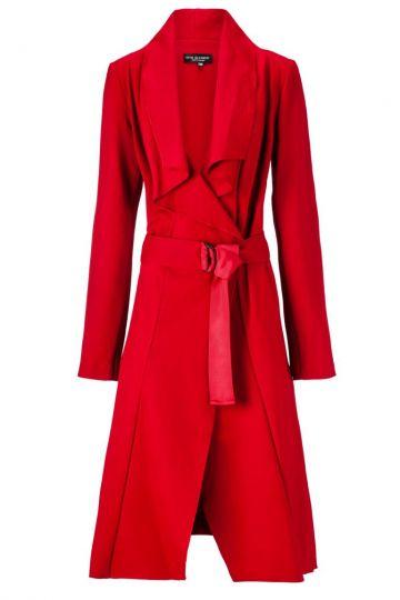 Mantel Zalcolora Red in kräftigem Rot