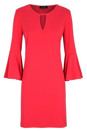 Pinkes Casual A-Linien Kleid Volantärmel