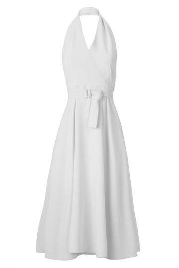 Weißes Neckholder Kleid Ansowhite