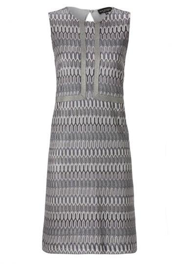 A-Linien Kleid Aloreis im Grauen Ajourstrick