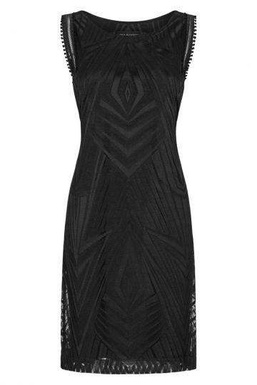 Schwarzes Grafisches Kleid Black Felisa