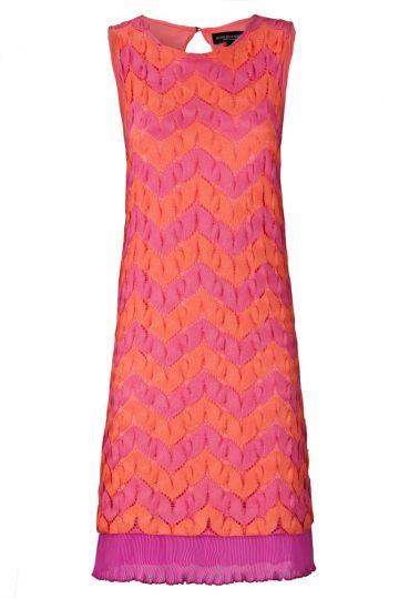 A-Linien Kleid Vanissa im Rosa und Orange