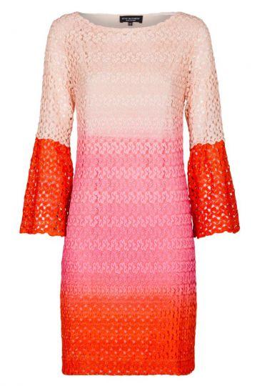 Rot-Pink-Rosa Tunika Strickkleid | Ana Alcazar