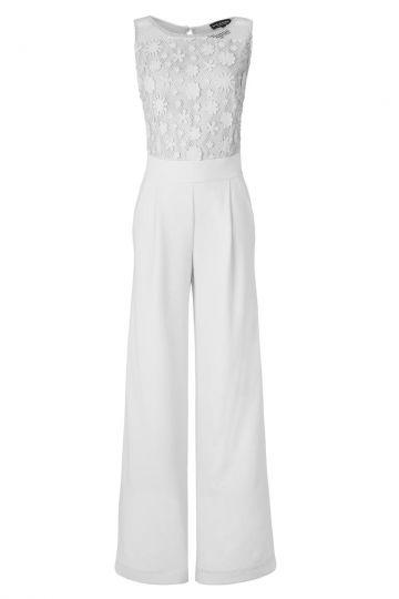Eleganter Jumpsuit Aurowely in Weiß