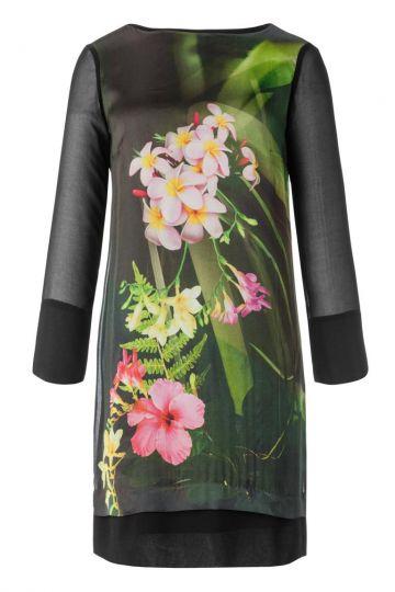 Seidentunika Anbellis mit Blumenprint