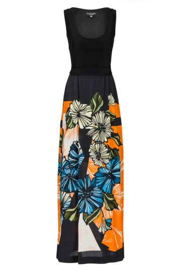 Langes Sommerkleid Bellobis mit Bluemnprint