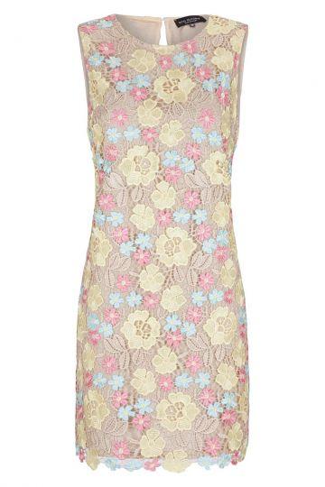 Yellow-Rose Flowers Lace Dress Gigi