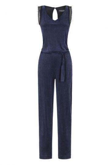 Blauer Jumpsuit Flawin Dekobänder