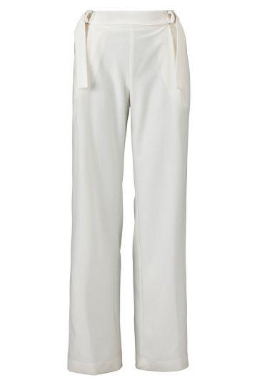 Weite Hose Vemosy White in Weiß