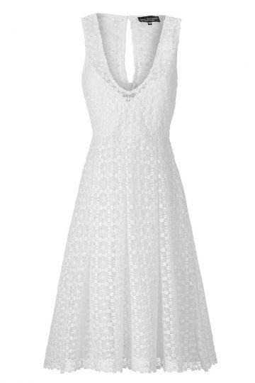 Spitzenkleid Aidery in Weiß