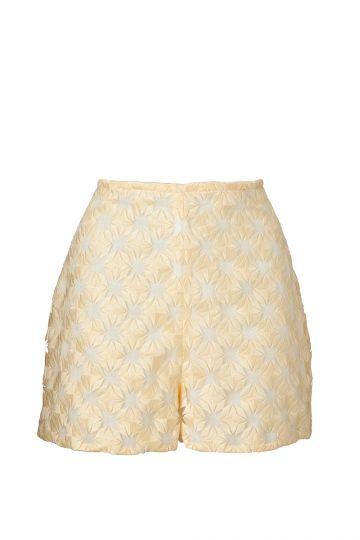 Shorts Peppitu aus gelber Spitze