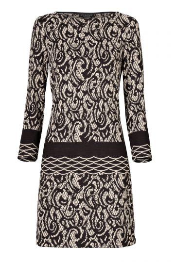 A-Linien Kleid Taimea in Beige und Schwarz