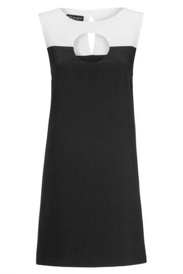A-Linien Kleid Bounea mit Cut-Out in Schwarz&Weiß