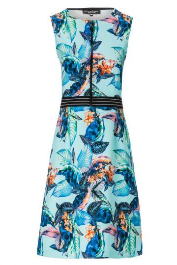 Sportliches Zip-Kleid Aquasty mit Jungle-Print