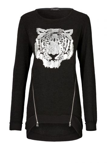 Pullover Thale mit Tiger-Print