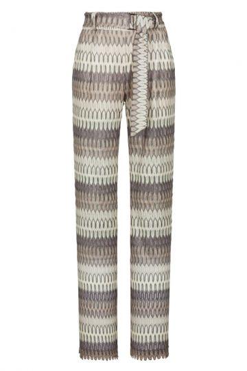 Beige-Braune Strickhose Florintea