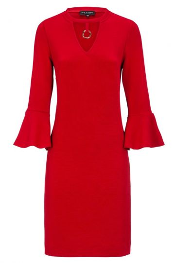Rotes Cover Kleid Dely mit Volants | Ana Alcazar