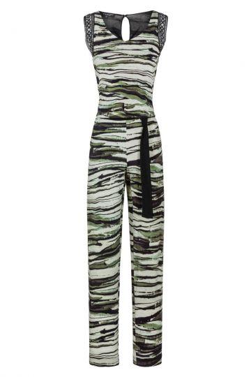 Camouflage Jumpsuit Flovis Schulter-Deko