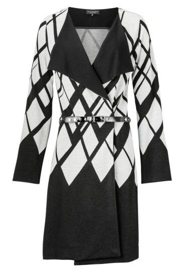 Elegante Jacke Zowenofy in Schwarz und Weiß